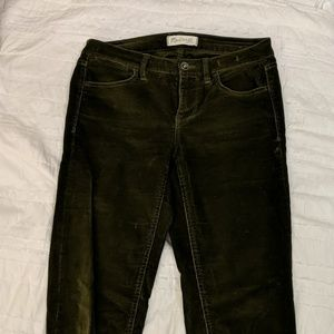 Madewell Dark Olive corduroy pants size 26